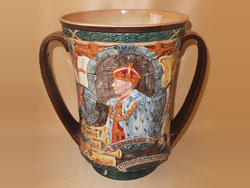 Royal Doulton Edward VIII Coronation Loving Cup, May 1937, No.198, Limited edition of 2000.