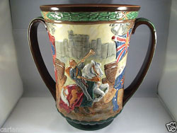 Royal Doulton George VI Coronation Loving Cup, May 1937, No.599, Limited Edition of 1000.