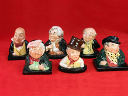 Royal Doulton Dickens Busts Set of 6.