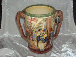 Royal Doulton Admiral Lord Nelson Loving Cup, Designers: Charles Noke & Harry Fenton, Issued: 1935. Limited Edition of 600.