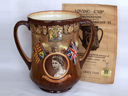 Royal Doulton Queen Elizabeth II Coronation Loving Cup.